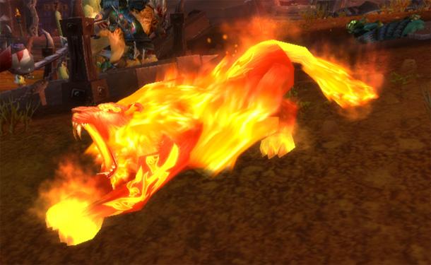 Les druides qui posséderont Fandral's Flamescythe pourront se transformer en chat flamboyant