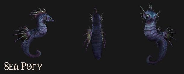 Ce mini-hipocampe se pêche dans la mer qui entoure la Foire de Sombrelune