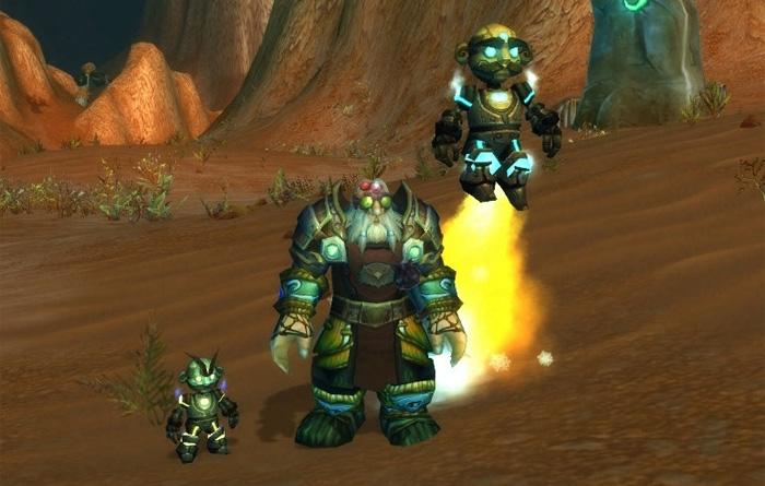 En bas à gauche, le Gnome mécanique. En haut à droite, Jeeves le robot réparateur
