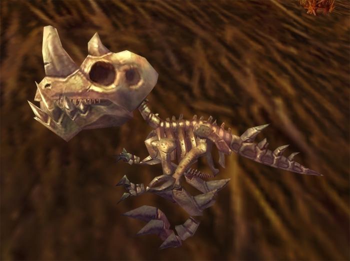 Jeune raptor fossilisé