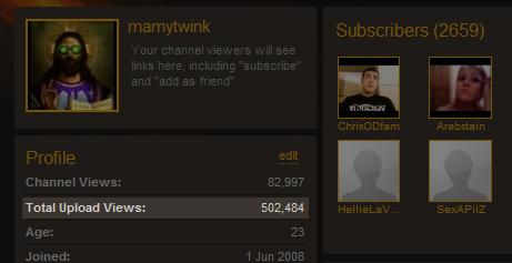 500 000 vues en 4 mois et demi !