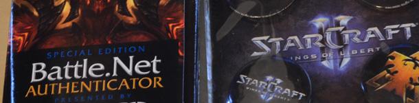 Lot 2 : 1 Battle.net Authenticator édition spéciale BlizzCon 2011, 4 pins Starcraft des stickers Jinx et des stickers Mamytwink