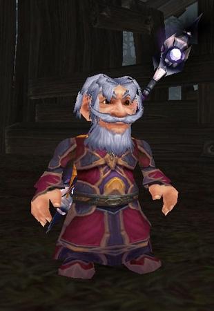 Zazzo est un gnome qui vous donnera les détails de votre mission