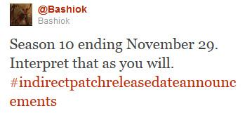 Dans un tweet publié le 10 novembre, Bashiok annonce que la saison 10 de JCJ prendra finalement fin le 29 novembre