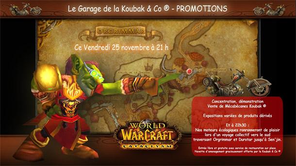 La deuxième édition de Garagae de la Koubak a lieu ce soir à 21h sur Kirin Tor