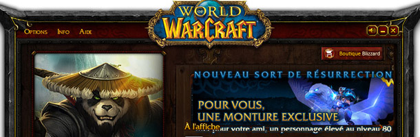 Le second launcher de Mists of Pandaria à l'aspect métallisé