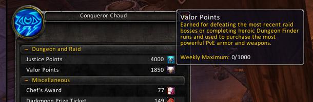 Les points de Vaillance sont plafonnés à 3000 points par personnage width=