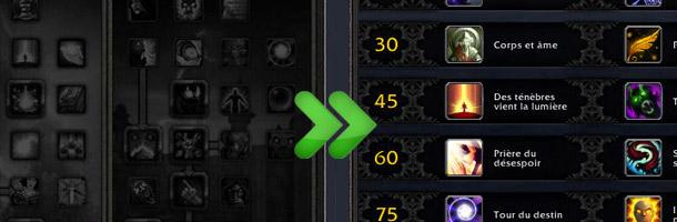 L'arbre de talents du Prêtre avant et après le patch 5.0.4