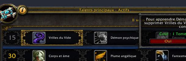 Modifier ses talents au patch 5.0.4