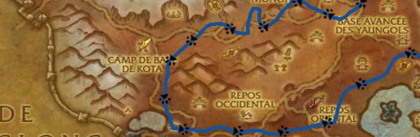 Visualisez le parcours de Pin-hirsute