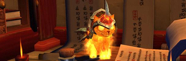 Le Chaton de braise est une nouvelle mascotte du Blizzard store