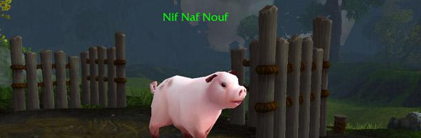 Trois cochons dans une ferme