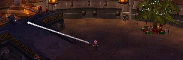 Lancer une boule de neige sur le Roi Muradin ou Baine Sabot-de-sang