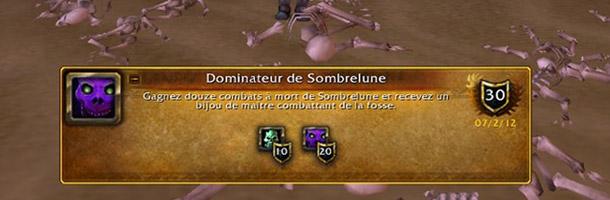 Bandicoot (du royaume Medivh) a obtenu le haut-fait Dominateur de Sombrelune !