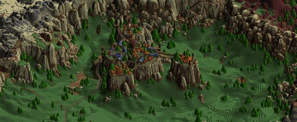 Kalimdor vu du ciel dans Minecraft !