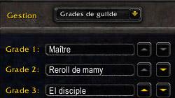 Les grades de la guilde Mamytwink