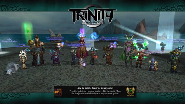 Trinity est la 3ème guilde francophone à avoir tué la Folie d'Aile de mort 10 HM
