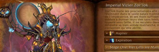Imperial Vizier Zor'lok est un boss du Coeur de la Peur