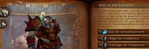 La Volonté de l'Empereur  est un boss des Caveaux de Mogu'Shan