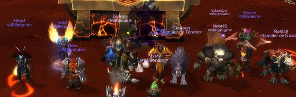 Millenium face à Ragnaros sur le royaume Temple Noir (Alliance)