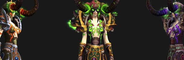 Mode défis : ensemble d'armures Démoniste