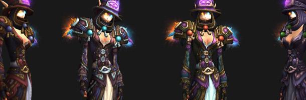 Mode défis : ensemble d'armures Mage