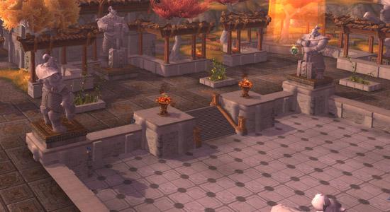Temple de Kotmogu - Plein de place pour courir et courir et courir