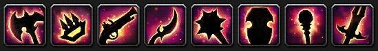 Icônes des 8 armes légendaires de Mists of Pandaria