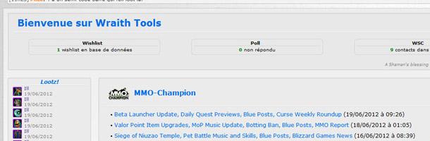 Aperçu de la page d'accueil des wTools