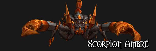 Monture : le Scorpion ambré