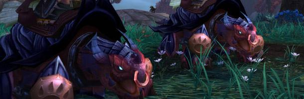 La Tortue-dragon est la monture raciale des Pandarens