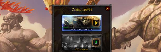Depuis l'application du dernier patch sur la bêta, la vignette Mists of Pandaria a fait son apparition
