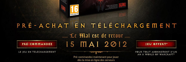 Diablo 3 sort le 15 mai 2012