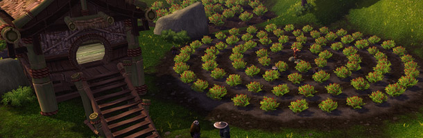 Une ferme Pandaren dans Mists of Pandaria