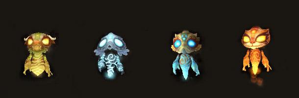 4 nouvelles mascottes des esprits pandarens seront disponibles au patch 5.1