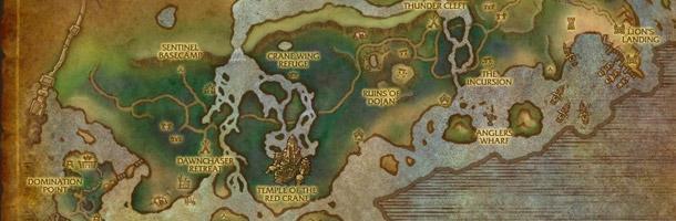 L'Alliance et la Horde poseront leurs bases aux extrémités Est et Ouest des Étendues sauvages de Krasarang