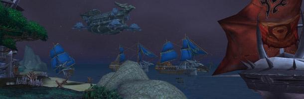La flotte de l'Alliance et de la Horde ont gagné les rives de la Pandarie