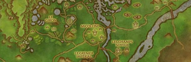 La carte de la Vallée des Quatre Vents.