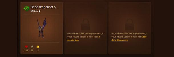 Le codex du site officiel vous fait suivre l'avancé des mascottes de combat