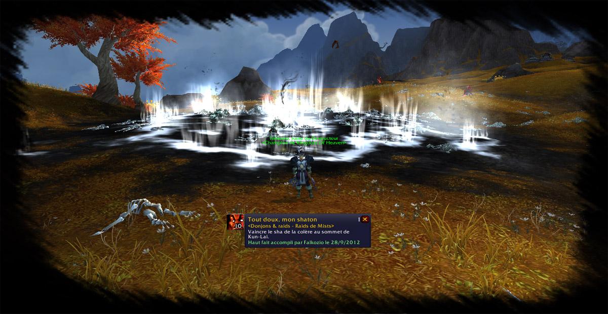 A 6h30, un groupe de raid « pick-up » composé de 40 joueurs a tué le Sha de la Colère.