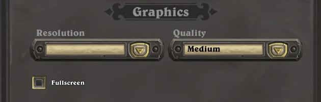 Réglez les options grâce à l'interface dédiée