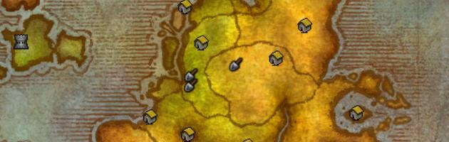 Les symboles de pelle vous indiquent vos sites de fouilles.