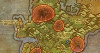 Le cercle rouge délimite votre zone de recherches.