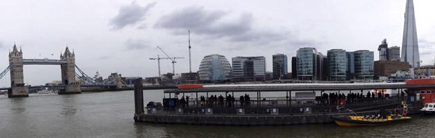 Une vue de Londres depuis les hauteurs de La city