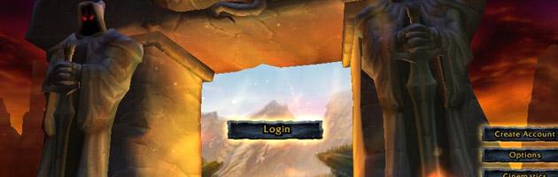 L'écran de connexion de World of Warcraft en 2003