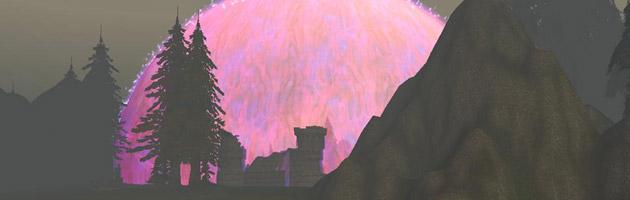 Le dôme de Dalaran était déjà imposant lors de l'alpha de World of Warcraft