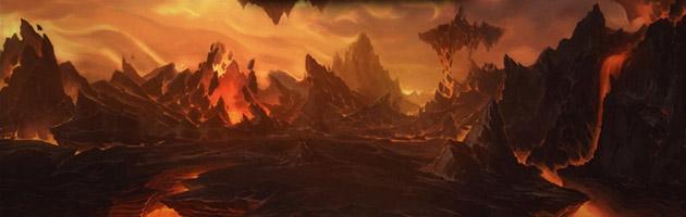 Les Terres de Feu sont le plan élémentaire forgé par les Titans pour enfermer Ragnaros afin de l'empêcher d'embraser Azeroth