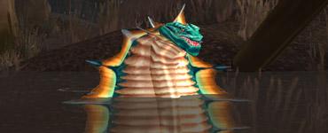 Cligne-L'œil le serpent à sonnette du Marécage d'Âprefange