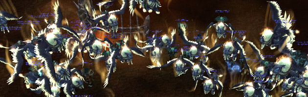 Multiboxing sur Darkspear avec la monture du Gardien ailé