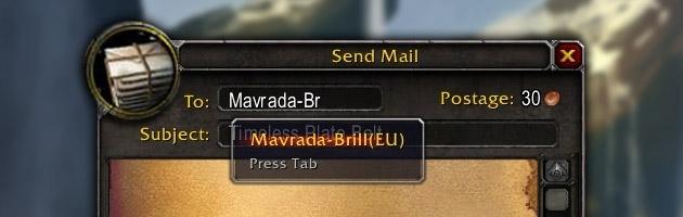 Envoyez vos objets liés au compte vers d'autres royaumes